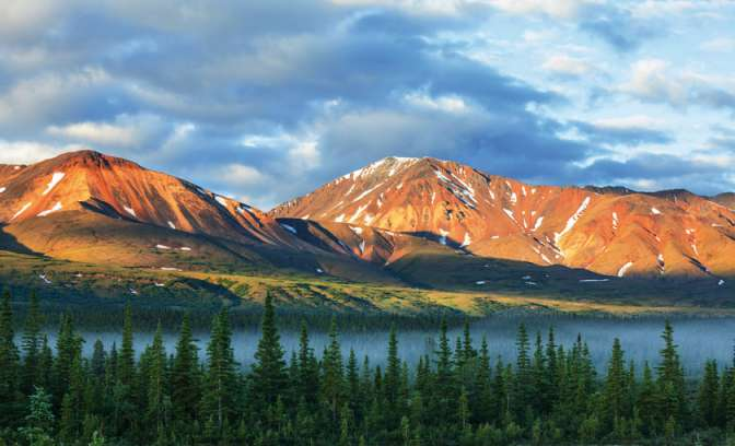 Nationaal park Denali Park in Alaska