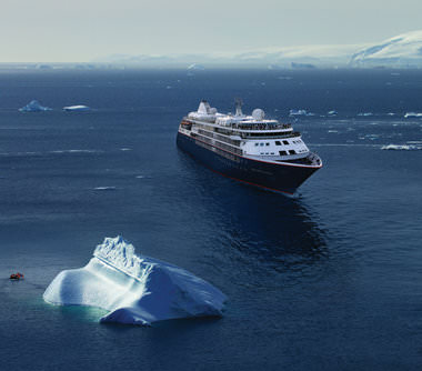 Expeditiecruises met ultramoderne Silver Cloud Expedition van rederij Silversea Cruises