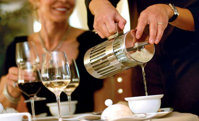 High Tea op Seabourn Odyssey cruiseschip