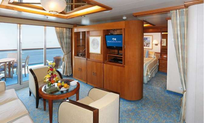 Een suite op de Sea Princess van Princess Cruises