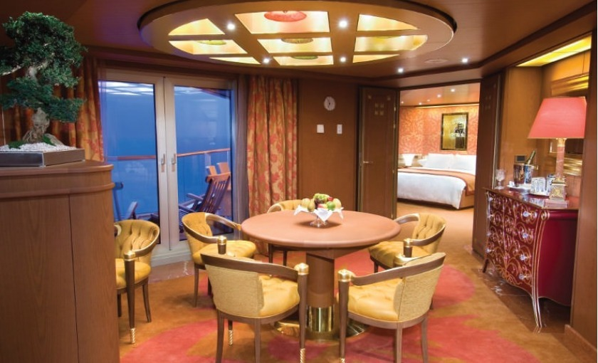De pinnacle suite op de Volendam van Holland America Line