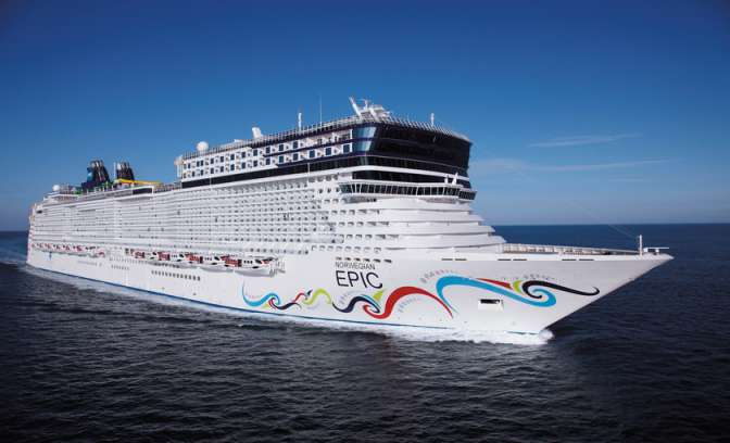 De Norwegian Epic van de Norwegian Cruise Line
