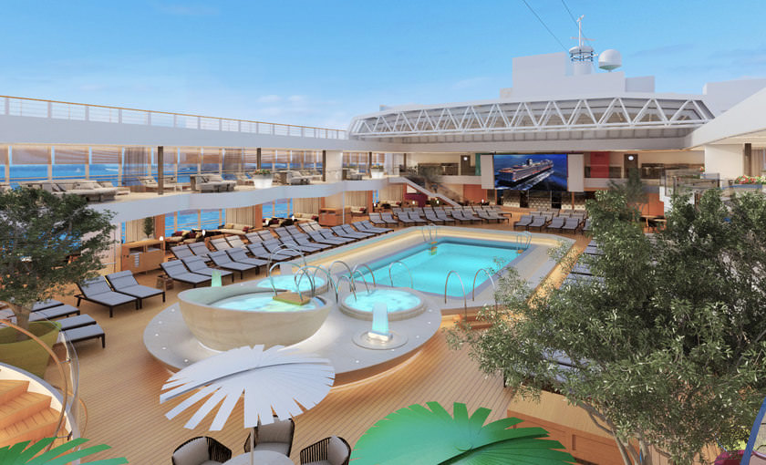 Poolarea cruiseschip Koningsdam