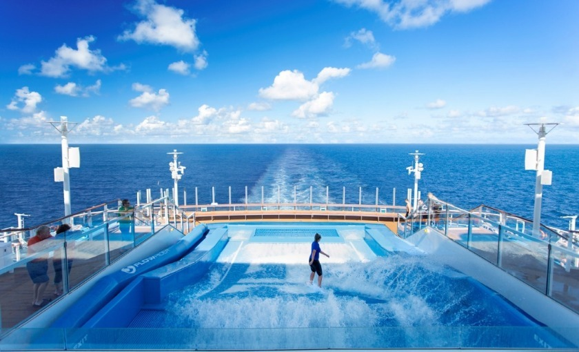 De flowrider op de Harmony of the Seas