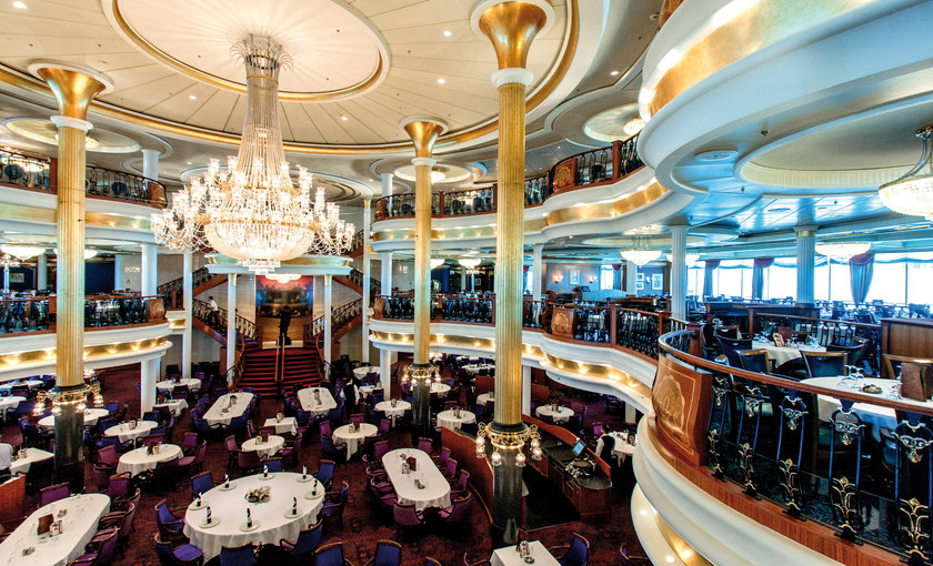 Het restaurant op de Adventure of the Seas van Royal Caribbean