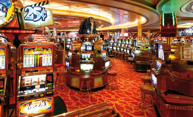 Een casino op de Adventure of the Seas van Royal Caribbean