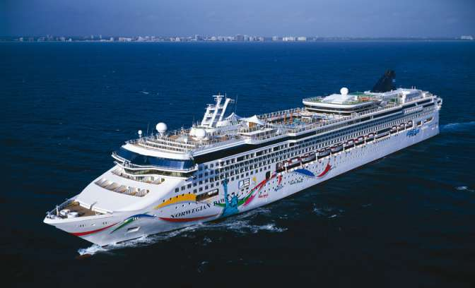 De Norwegian Dawn van Norwegian cruise line