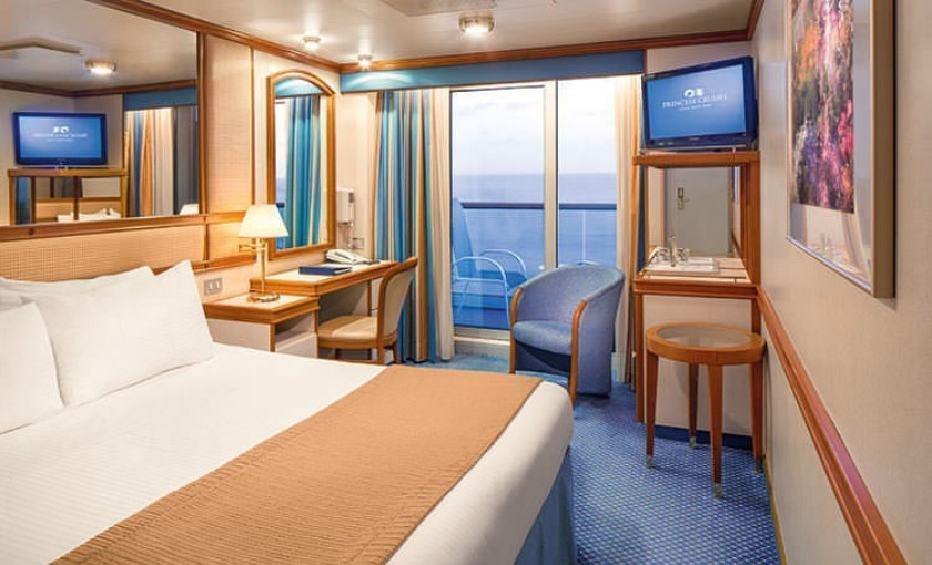Een balkonhut op de Golden Princess van Princess cruises