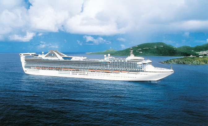 De Golden Princess van Princess Cruises