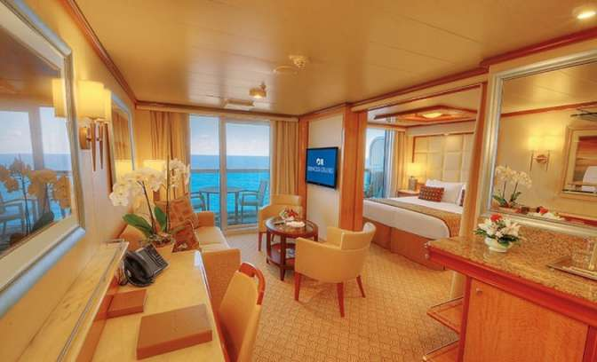 Een suite op de Regal Princess van Princess Cruises