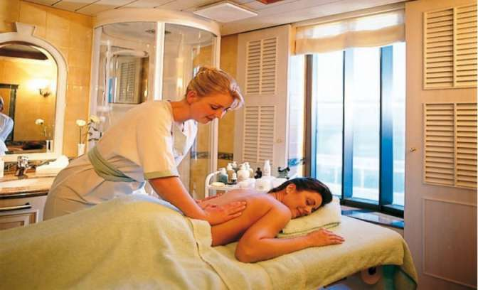 Een massage op de Sun Princess van Princess Cruises