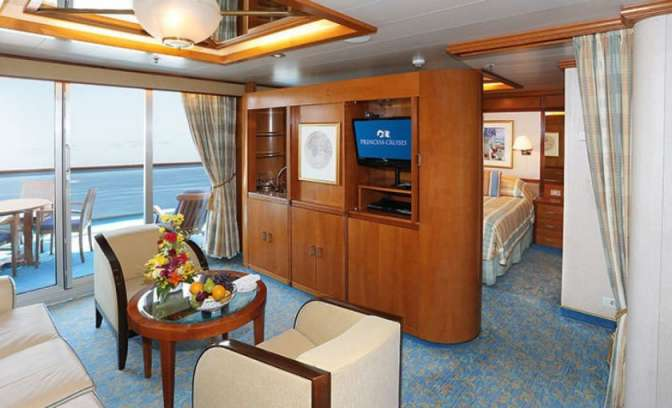 Een suite op de Sun Princess van Princess Cruises