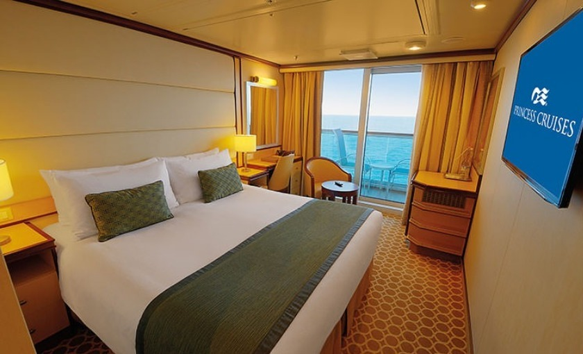 Een balkonhut op de Royal Princess van Princess Cruises
