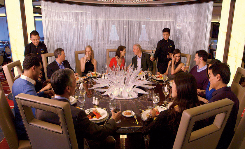 Chef's table Lumiere op de Royal Princess van Princess Cruises