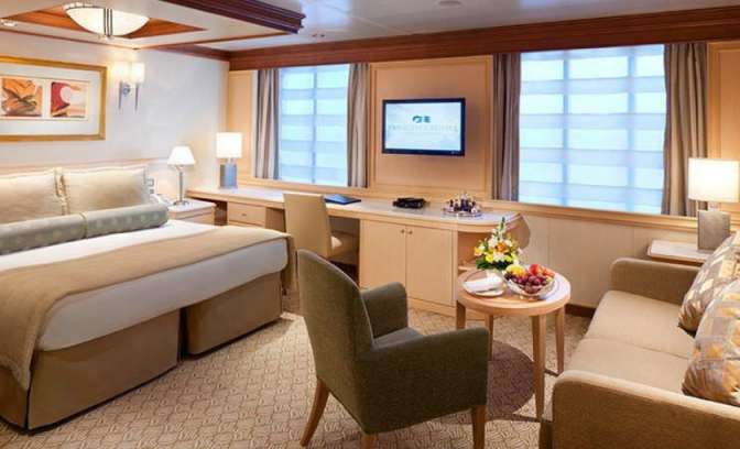 Een suite op de Island Princess van Princess Cruises