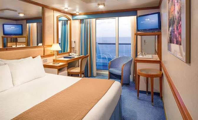 Een balkonhut op de Diamond Princess van Princess Cruises