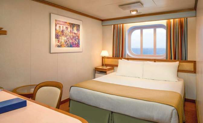 Een buitenhut op de Diamond Princess van Princess Cruises