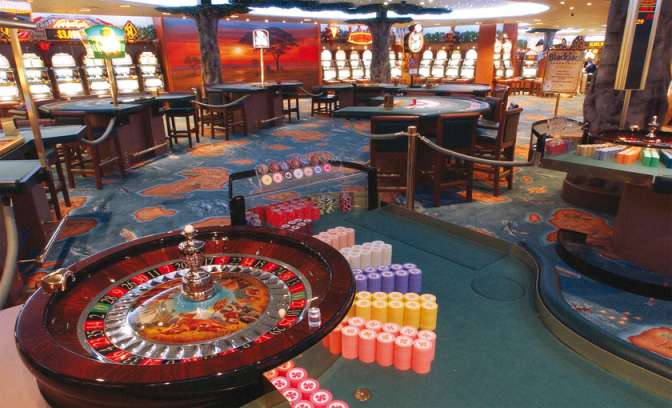 Een casino op de Diamond Princess van Princess Cruises