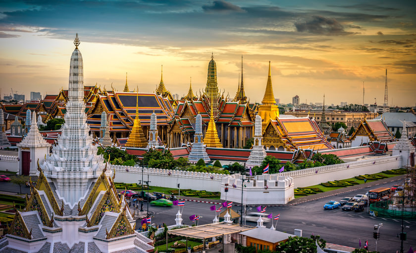 De Grand palace en Wat Phra Keaw in Bangkok