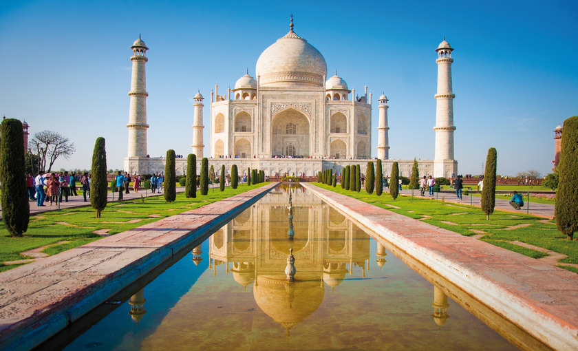 De Taj Mahal in India